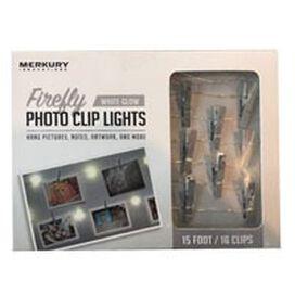 Merkury Innovations LED Firefly Photo Clip String Lights [Silver]