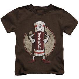 Tootsie Roll Tootsie Man Short Sleeve Juvenile Coffee T-Shirt