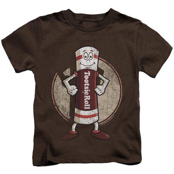 Tootsie Roll Tootsie Man Short Sleeve Juvenile Coffee T-Shirt