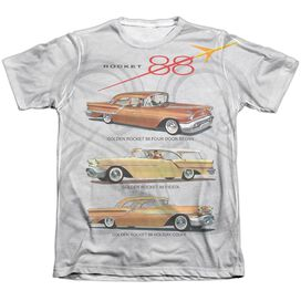 Oldsmobile Rocket Line Adult Poly Cotton Short Sleeve Tee T-Shirt