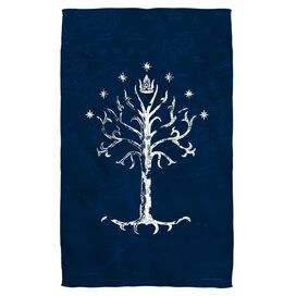 Lord Of The Rings Tree Of Gondor Golf Towel White Face
