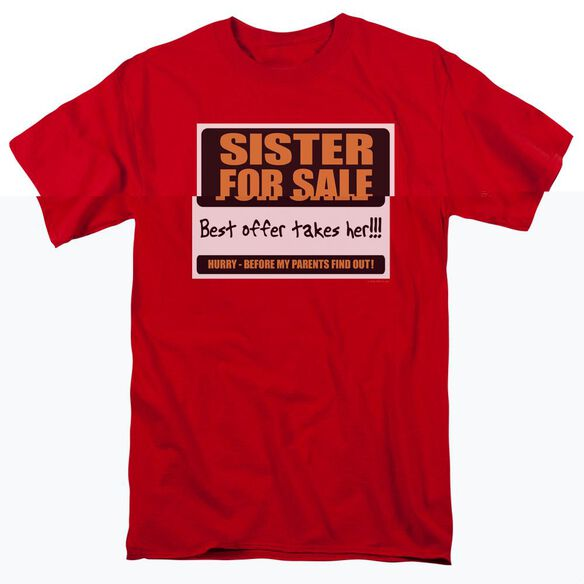 SISTER FOR SALE - ADULT 18/1 - RED T-Shirt