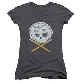 Teachers Fear Me Junior V Neck T-Shirt