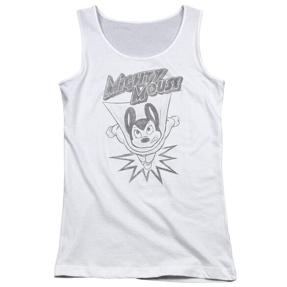 Mighty Mouse Bursting Out Juniors Tank Top