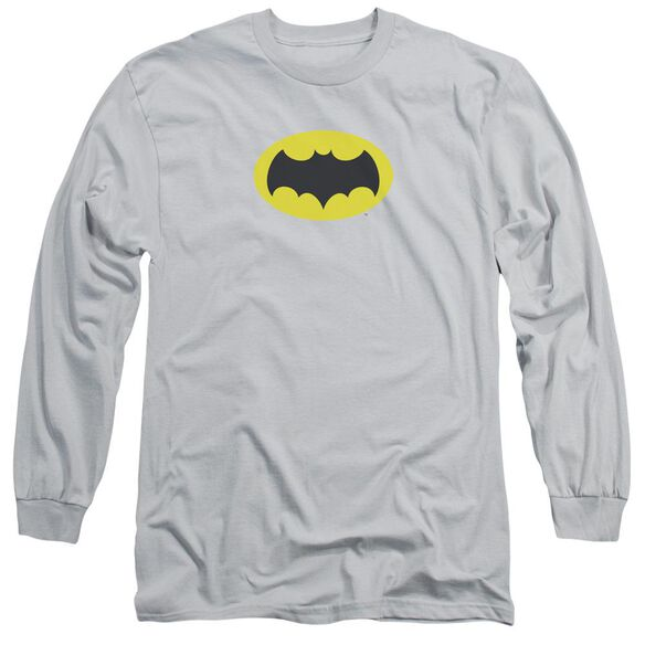 Batman Classic Tv Chest Logo Long Sleeve Adult T-Shirt