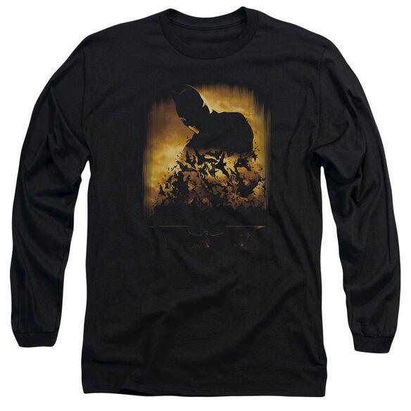 Batman Begins Bats Long Sleeve Adult T-Shirt