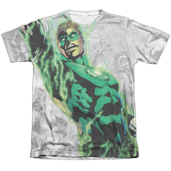 Green Lantern Light Em Up Adult Poly Cotton Short Sleeve Tee T-Shirt