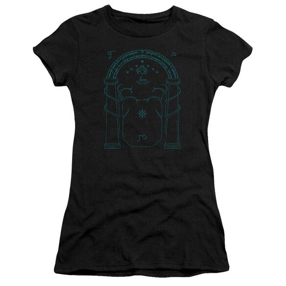 Lord Of The Rings Doors Of Durin Short Sleeve Junior Sheer T-Shirt