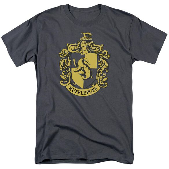Harry Potter Hufflepuff Crest Short Sleeve Adult T-Shirt