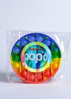 Watchitude Pop'd Rainbow Disc Push Pop Bubble Sensory Fidget Toy