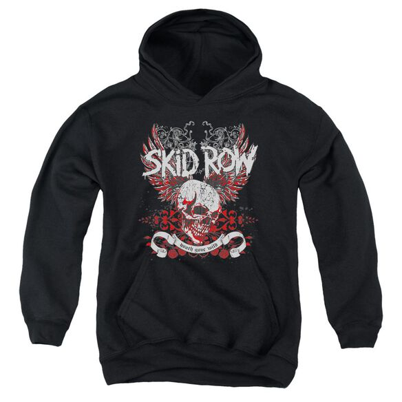 Skid Row Winged Skull Youth Pull Over Hoodie