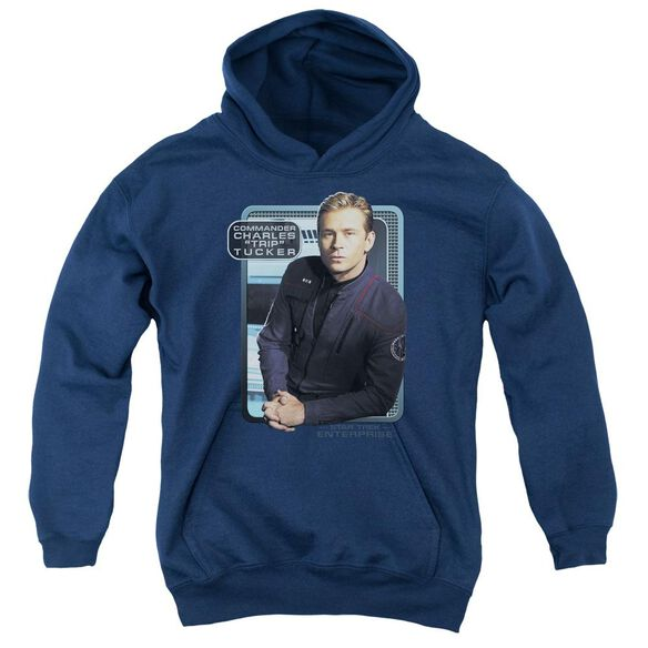 Star Trek Trip Tucker Youth Pull Over Hoodie