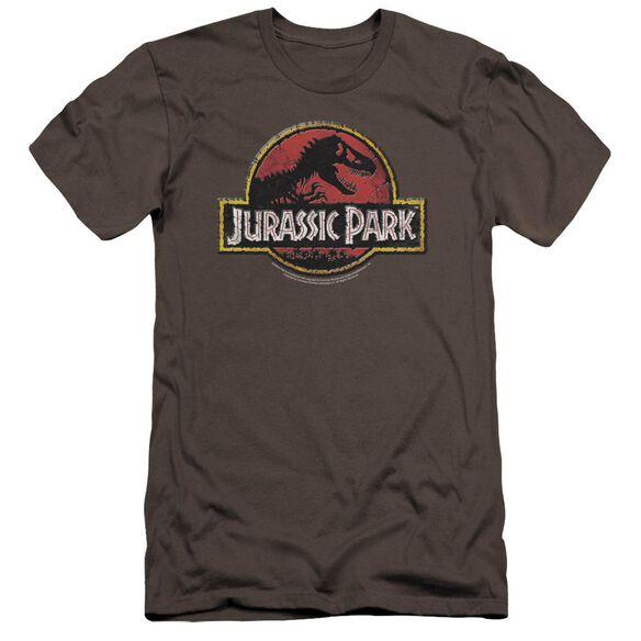 Jurassic Park Stone Logo Premuim Canvas Adult Slim Fit