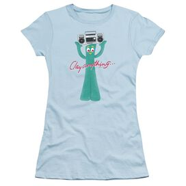 Gumby Clay Anything Short Sleeve Junior Sheer Light T-Shirt