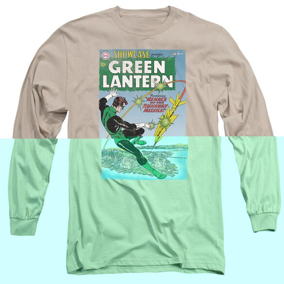 Green Lantern Menace Missle Long Sleeve Adult T-Shirt