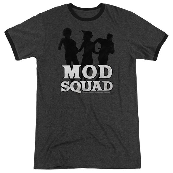 Mod Squad Mod Squad Run Simple Adult Heather Ringer Charcoal