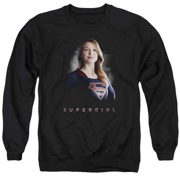 Supergirl Stand Tall Adult Crewneck Sweatshirt