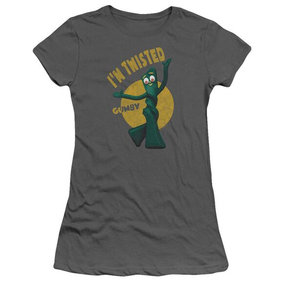 Gumby Twisted Short Sleeve Junior Sheer T-Shirt