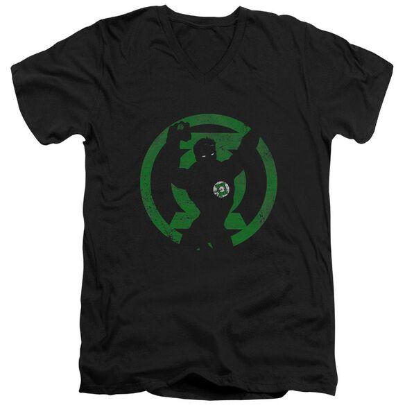 Dc Gl Symbol Knockout Short Sleeve Adult V Neck T-Shirt