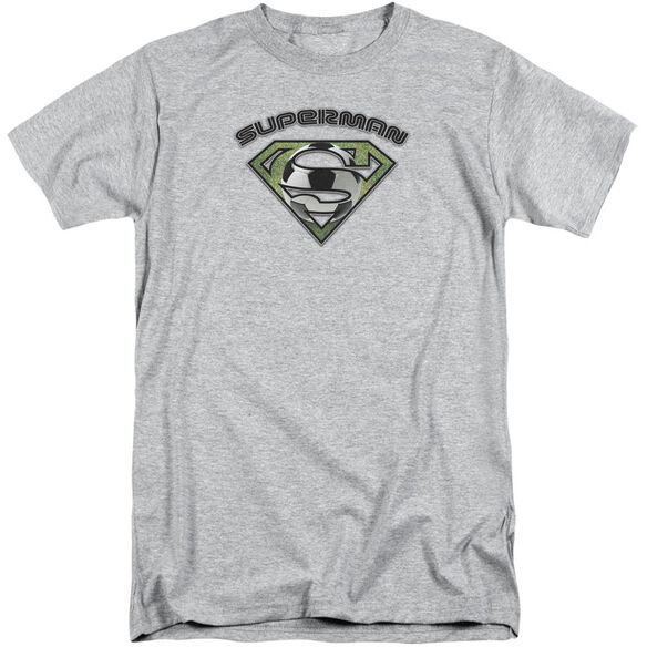 Superman Soccer Shield Short Sleeve Adult Tall Athletic T-Shirt