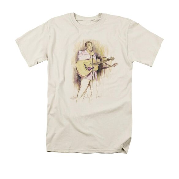 Elvis I Was The One Short Sleeve Adult Cream T-Shirt