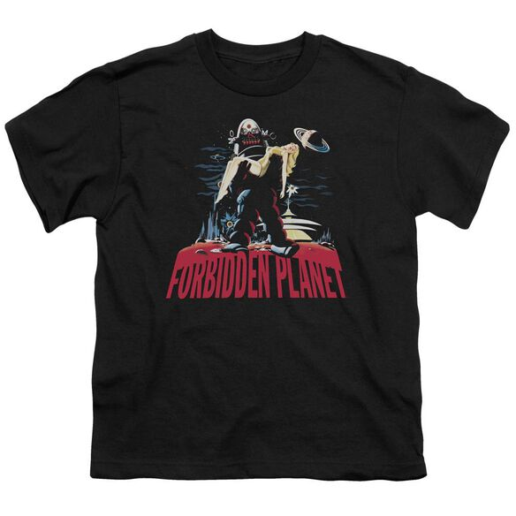 Forbidden Planet Robby And Woman Short Sleeve Youth T-Shirt