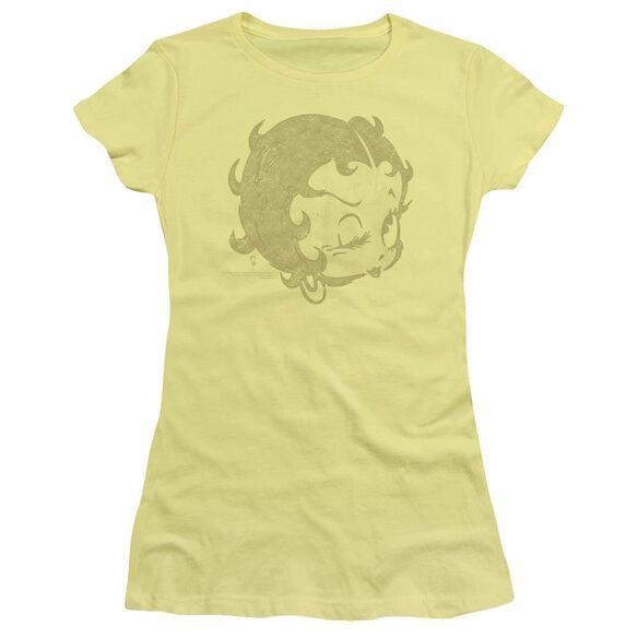 Betty Boop Hey There Short Sleeve Junior Sheer T-Shirt