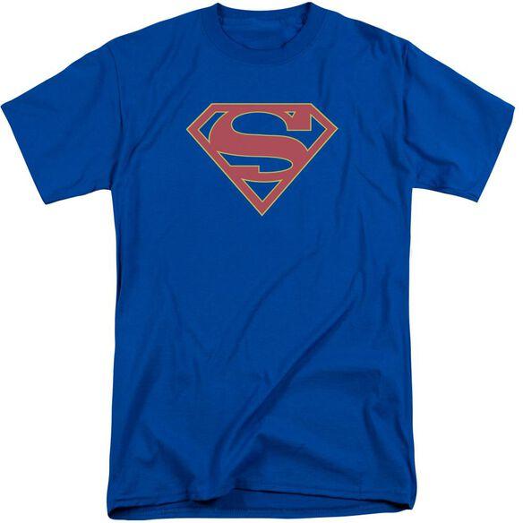 Supergirl Logo Short Sleeve Adult Tall Royal T-Shirt