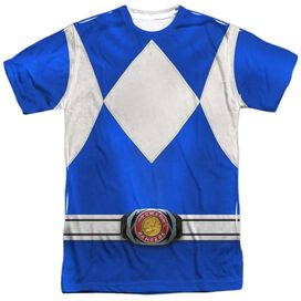 Power Rangers Blue Ranger Short Sleeve Adult Poly Crew T-Shirt