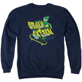 Gumby Green And Extreme Adult Crewneck Sweatshirt