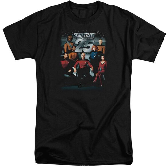 Star Trek 25 Th Anniversary Crew Short Sleeve Adult Tall T-Shirt