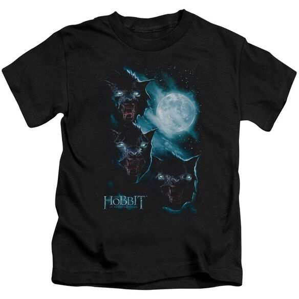 The Hobbit Three Warg Moon Short Sleeve Juvenile Black T-Shirt