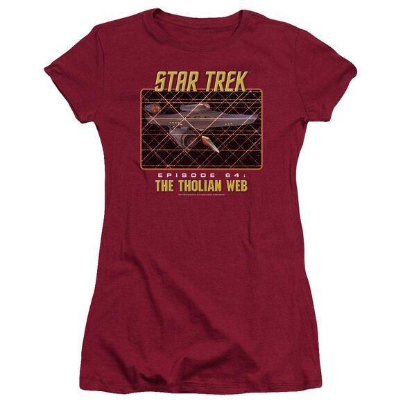 ST:ORIGINAL THE THOLIAN WEB - S/S JUNIOR SHEER T-Shirt