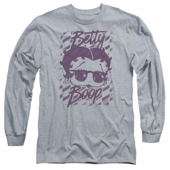 Betty Boop Summer Shades Long Sleeve Adult Athletic T-Shirt