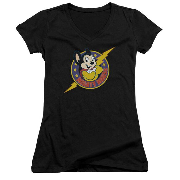 Mighty Mouse Mighty Hero Junior V Neck T-Shirt