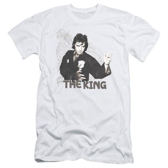 ELVIS PRESLEY FIGHTING KING - S/S ADULT 30/1 - WHITE T-Shirt