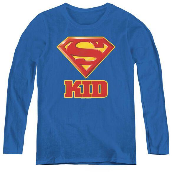 Superman Super Kid-womens Long Sleeve