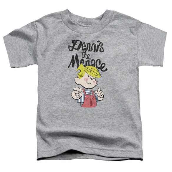 Dennis The Menace Point Short Sleeve Toddler Tee Athletic Heather T-Shirt