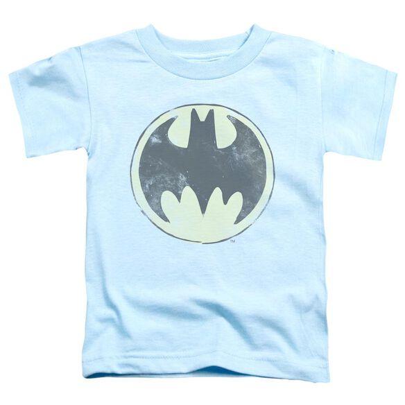 Batman Old Time Logo Short Sleeve Toddler Tee Light Blue Md T-Shirt