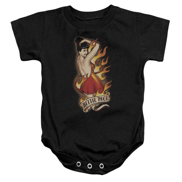 Bettie Page Devil Tattoo Infant Snapsuit Black Lg