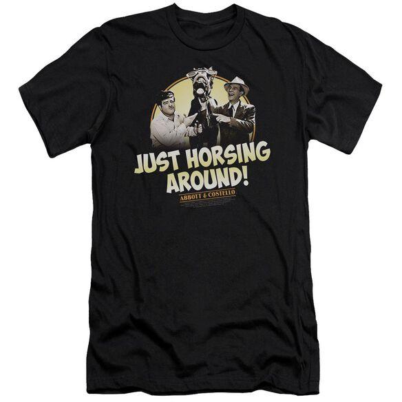 ABBOTT & COSTELLO HORSING AROUND - S/S ADULT 30/1 - BLACK T-Shirt