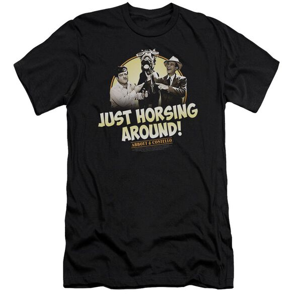 ABBOTT & COSTELLO HORSING AROUND - S/S ADULT 30/1 - BLACK T-Shirt