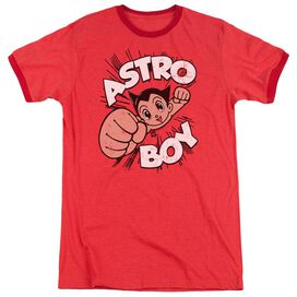Astro Boy Flying Adult Heather Ringer Red