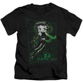 Betty Boop Virtual Boop Short Sleeve Juvenile Black T-Shirt