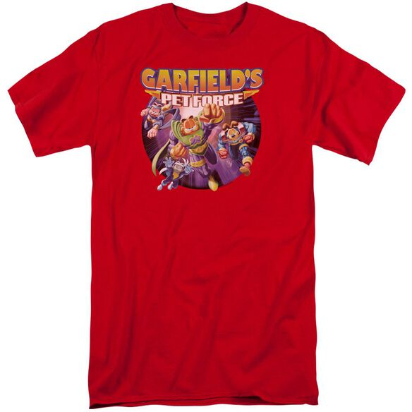 Garfield Pet Force Four Short Sleeve Adult Tall T-Shirt