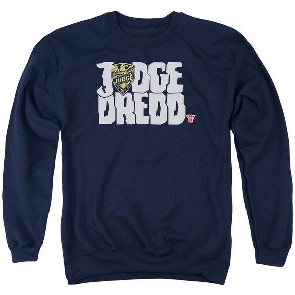 Judge Dredd Logo Adult Crewneck Sweatshirt