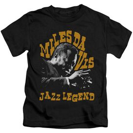 Miles Davis Jazz Legend Short Sleeve Juvenile Black T-Shirt