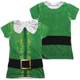 Elf Buddy Costume (Front Back Print) Short Sleeve Junior Poly Crew T-Shirt