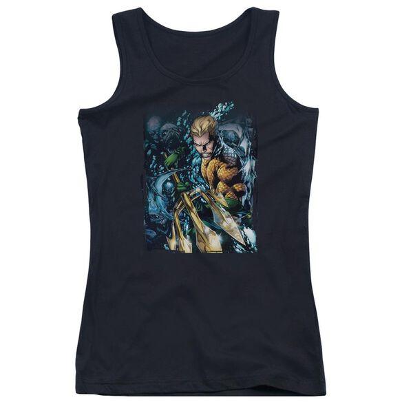 Jla Aquaman #1 Juniors Tank Top