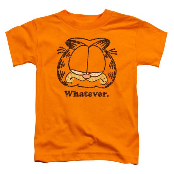 Garfield Whatever Short Sleeve Toddler Tee Orange Md T-Shirt